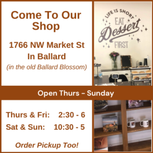 hours and location of Truffles & More dessert shop in Seattle